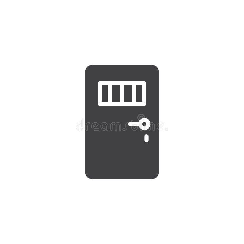 Vetor do ícone da porta da prisão ilustração stock