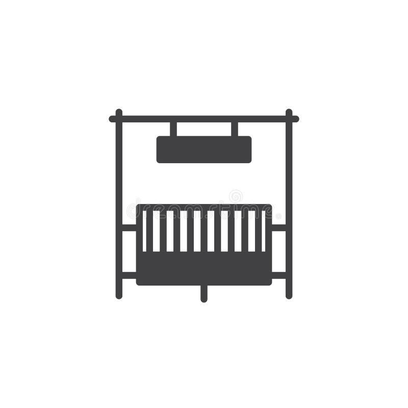 Vetor do ícone da porta do rancho ilustração stock