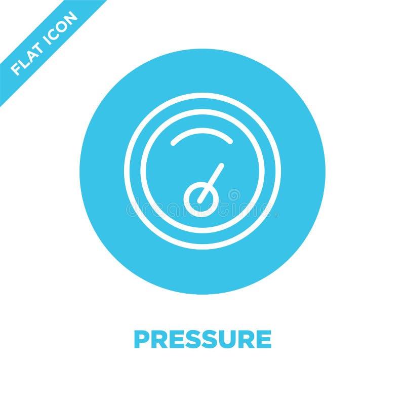 vetor do ícone da pressão da coleção do tempo Linha fina ilustração do vetor do ícone do esboço da pressão Símbolo linear para o  ilustração royalty free