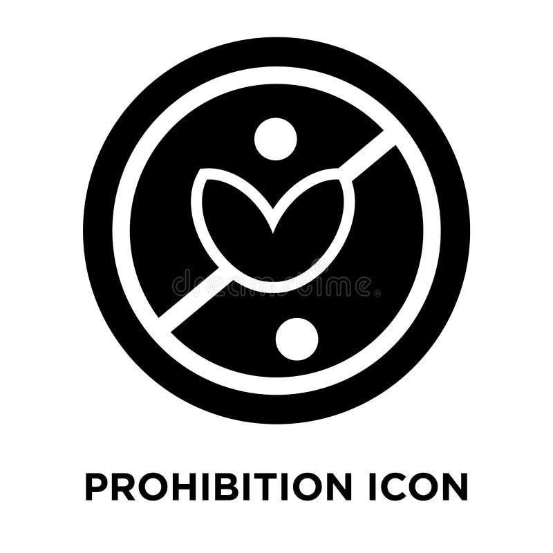 Vetor do ícone da proibição isolado no fundo branco, conce do logotipo ilustração royalty free