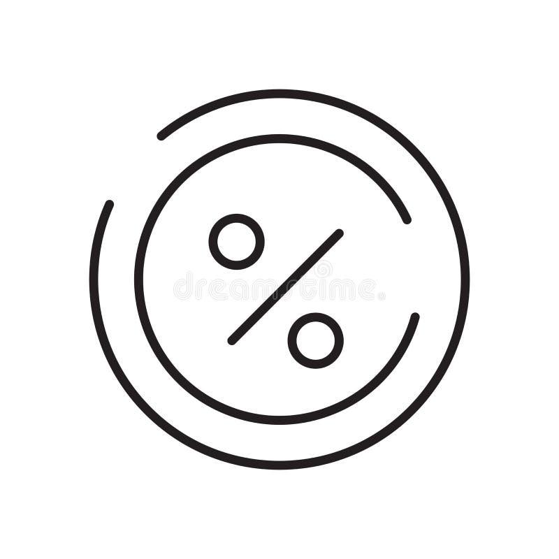 Vetor do ícone da relação isolado no fundo, no sinal da relação, no sinal e nos símbolos brancos no estilo linear fino do esboço ilustração stock
