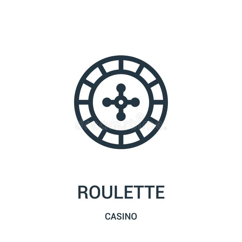 vetor do ícone da roleta da coleção do casino Linha fina ilustra??o do vetor do ?cone do esbo?o da roleta ilustração do vetor