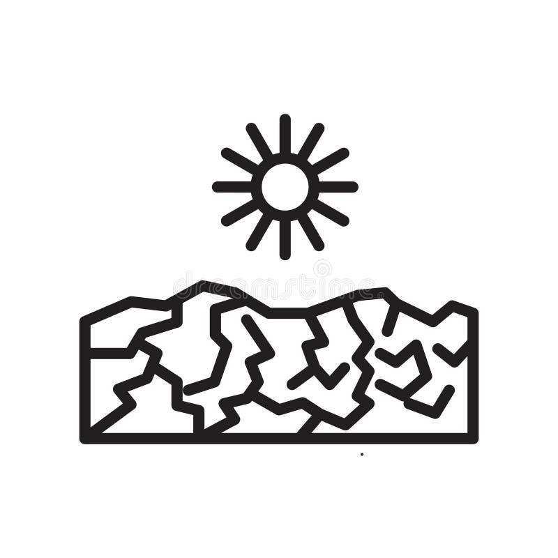 Vetor do ícone da seca isolado no fundo branco, sinal da seca ilustração stock