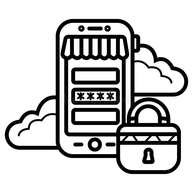Vetor do ícone da segurança do pagamento ilustração do vetor