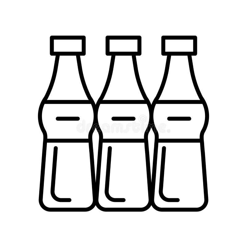 Vetor do ícone da soda isolado no fundo branco, sinal da soda, linha fina elementos do projeto no estilo do esboço ilustração royalty free