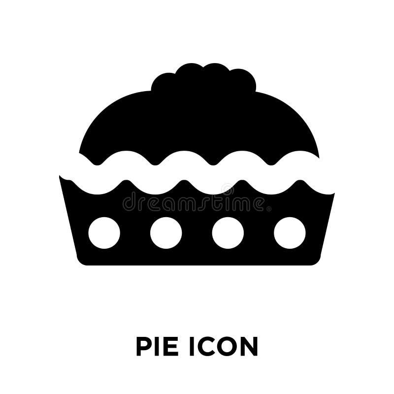 Vetor do ícone da torta isolado no fundo branco, conceito do logotipo do pi ilustração stock