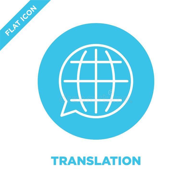 Vetor do ícone da tradução Linha fina ilustração do vetor do ícone do esboço da tradução símbolo da tradução para o uso na Web e  ilustração stock