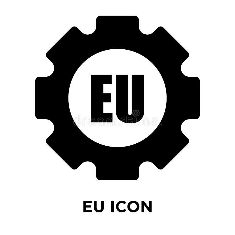 Vetor do ícone da UE isolado no fundo branco, conceito do logotipo da UE ilustração royalty free