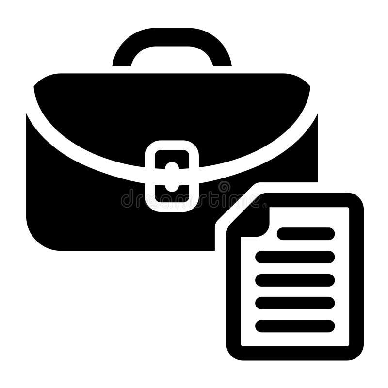 Vetor do ícone da vaga de trabalho da busca Símbolo da ilustração da carreira da lupa Logotipo do empregador dos povos do achado ilustração do vetor
