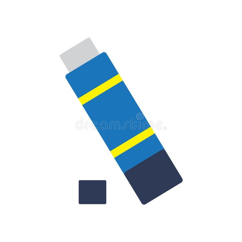 Vetor do ícone da vara da colagem isolado no fundo branco, sinal da vara da colagem, símbolos coloridos do equipamento ilustração stock