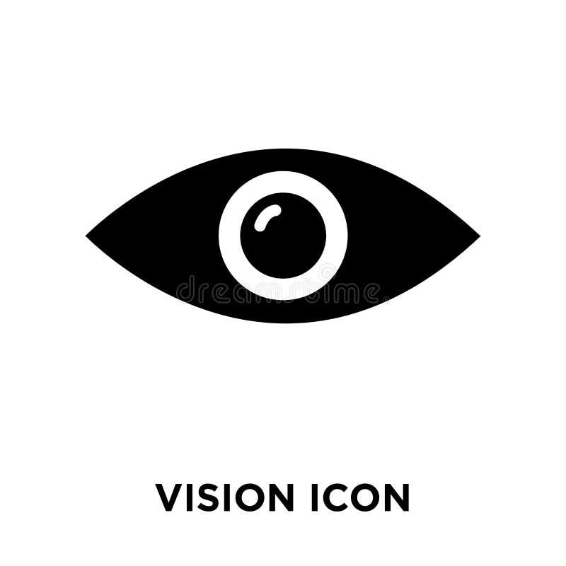 Vetor do ícone da visão isolado no fundo branco, conceito do logotipo de ilustração royalty free