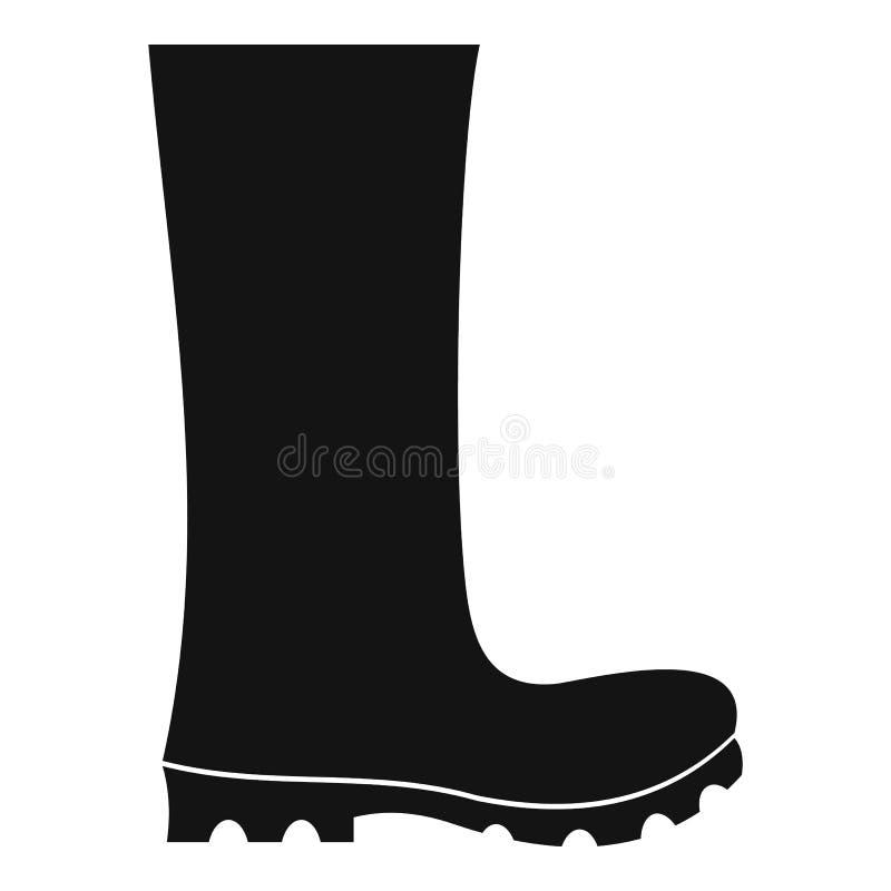 Vetor do ícone das botas de borracha simples ilustração stock