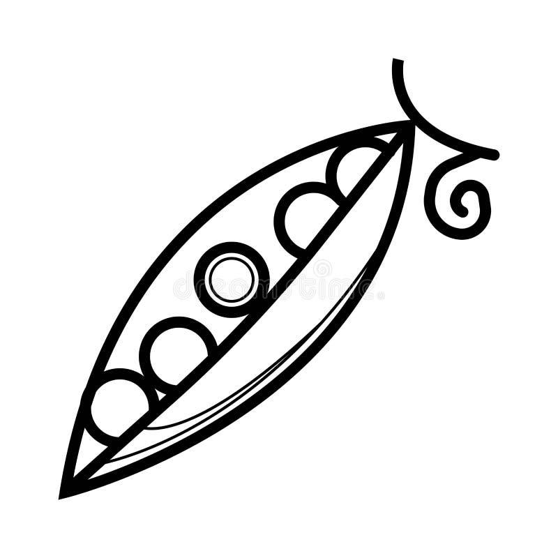 Vetor do ícone das ervilhas ilustração royalty free