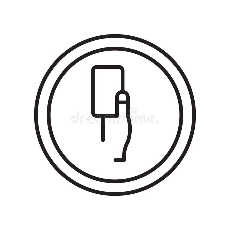 Vetor do ícone de Amonestation isolado no fundo, no sinal de Amonestation, no sinal e nos símbolos brancos no estilo linear fino  ilustração royalty free
