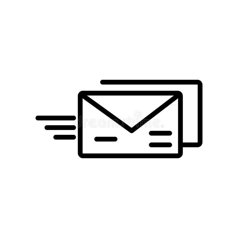 Vetor do ícone de Evelope do e-mail isolado no fundo branco, e-mail Ev ilustração stock