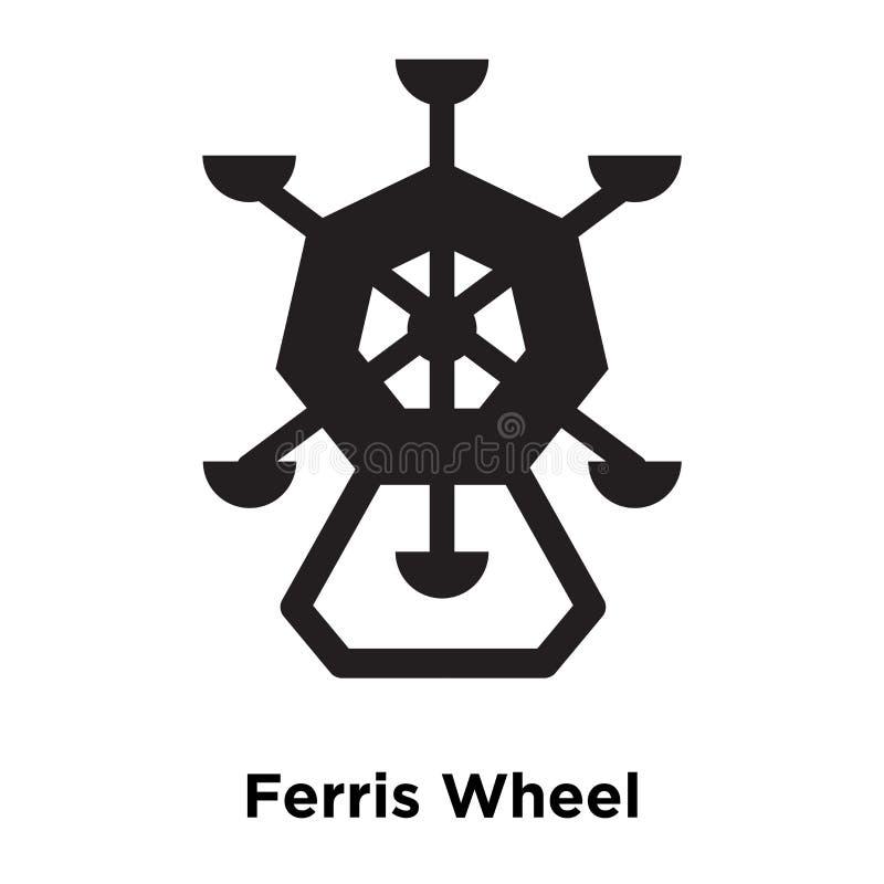 Vetor do ícone de Ferris Wheel isolado no fundo branco, logotipo concentrado ilustração royalty free