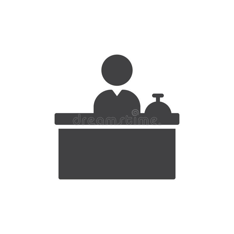 Vetor do ícone de Front Desk ilustração stock