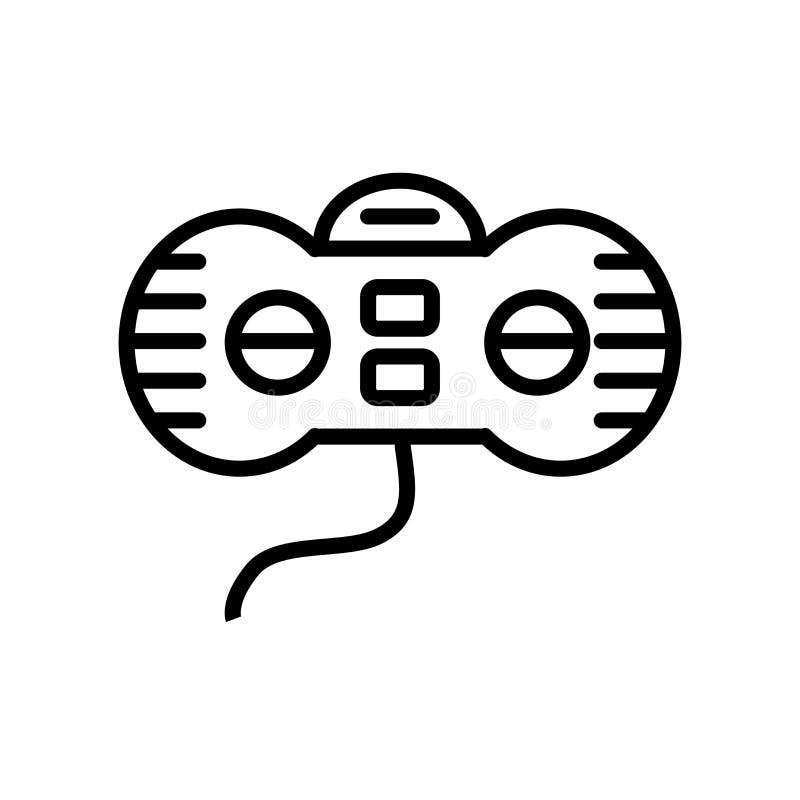 Vetor do ícone de Gamepad isolado no fundo branco, sinal de Gamepad ilustração do vetor