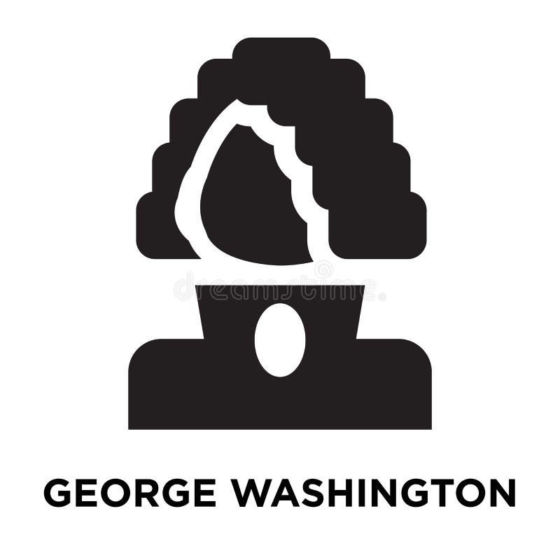 Vetor do ícone de George Washington isolado no fundo branco, logotipo ilustração stock