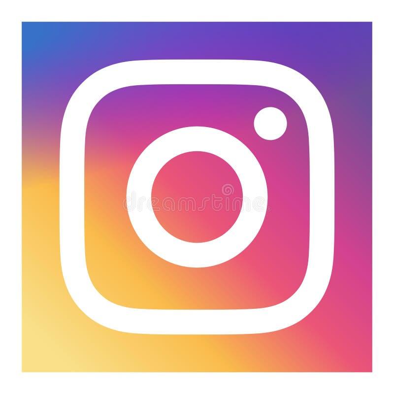 Vetor do ícone de Instagram ilustração do vetor
