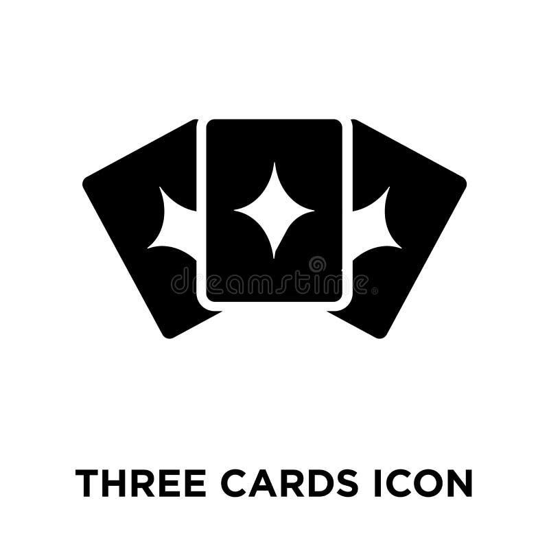 Vetor do ícone de três cartões isolado no fundo branco, conce do logotipo ilustração royalty free