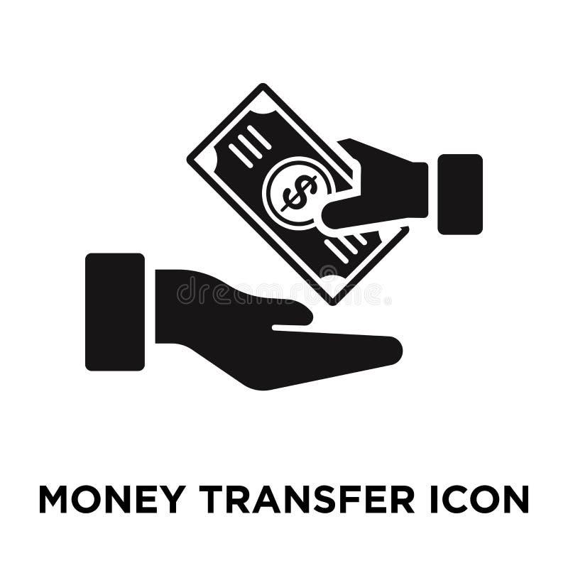Vetor do ícone de transferência de dinheiro isolado no fundo branco, logotipo co ilustração do vetor