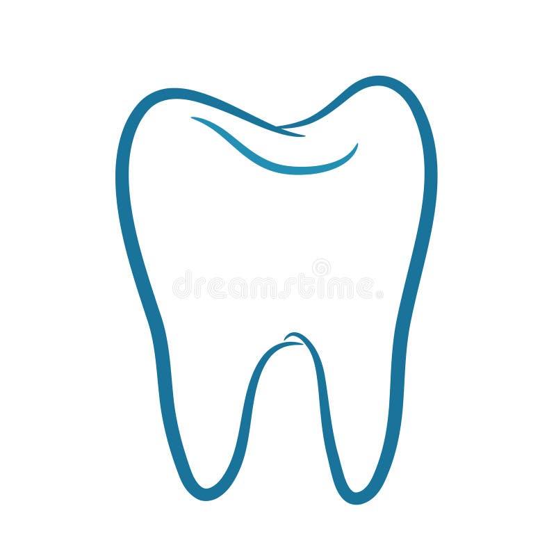 Vetor do ícone do dente ilustração royalty free