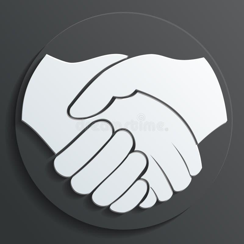 Vetor do ícone do aperto de mão ilustração do vetor