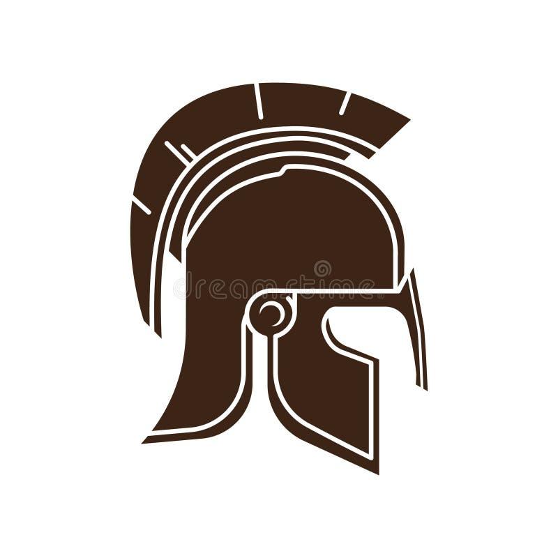 Vetor do ícone do capacete do guerreiro ilustração royalty free