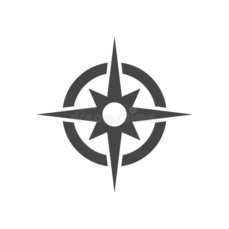 Vetor do ícone do compasso ilustração do vetor