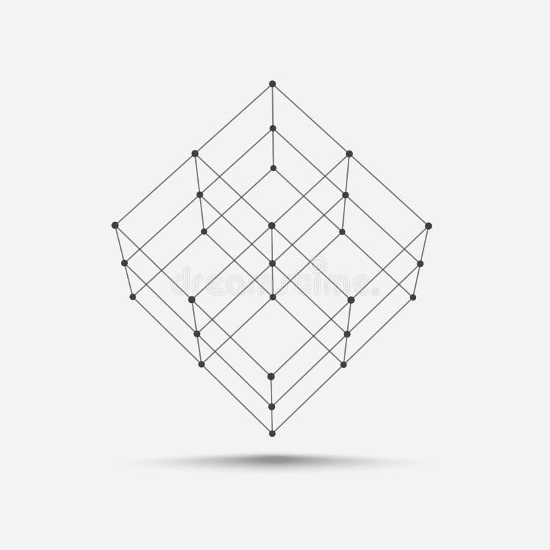 Vetor do ícone do cubo ilustração do vetor