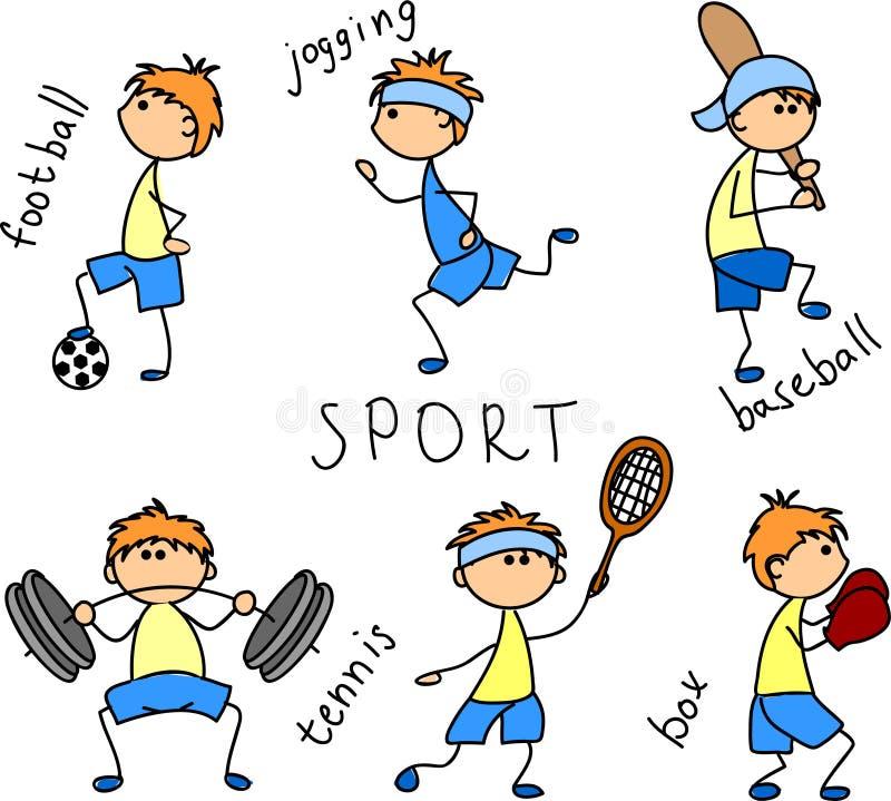 Vetor do ícone do esporte dos desenhos animados ilustração do vetor