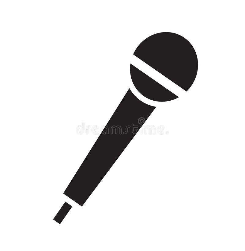 Vetor do ícone do microfone ilustração stock