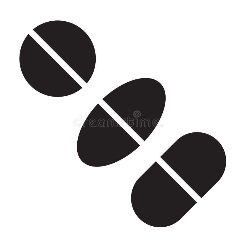 Vetor do ícone dos comprimidos ilustração royalty free
