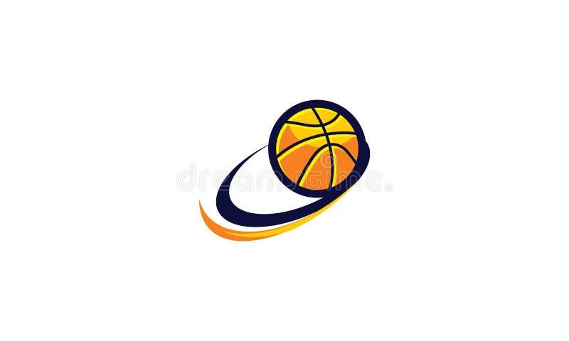Vetor do ícone do emblema do logotipo da equipe de basquetebol ilustração stock