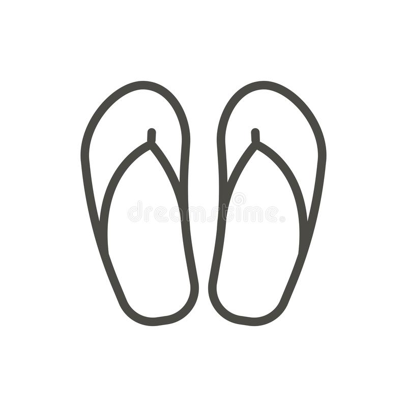 Vetor do ícone do falhanço de aleta Linha símbolo dos falhanços da praia isolado trendy ilustração stock
