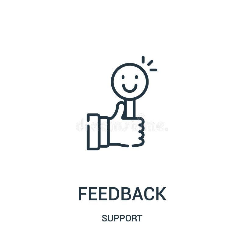vetor do ícone do feedback da coleção do apoio Linha fina ilustração do vetor do ícone do esboço do feedback Símbolo linear para  ilustração royalty free