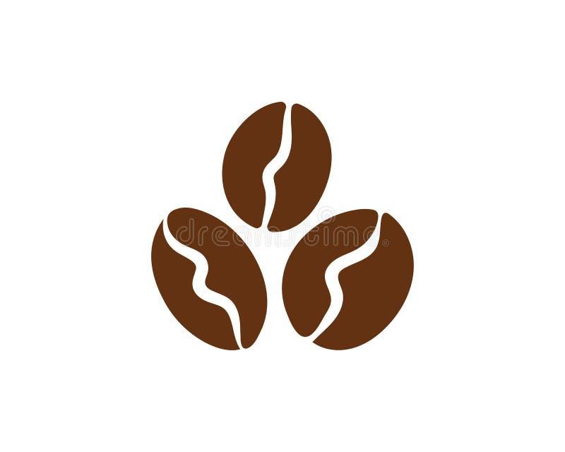 Vetor do ícone do feijão de café ilustração stock