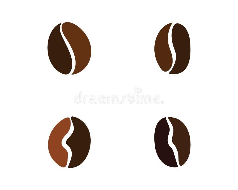 Vetor do ícone do feijão de café ilustração do vetor