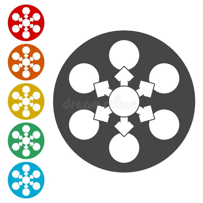 Vetor do ícone do fluxograma ilustração royalty free