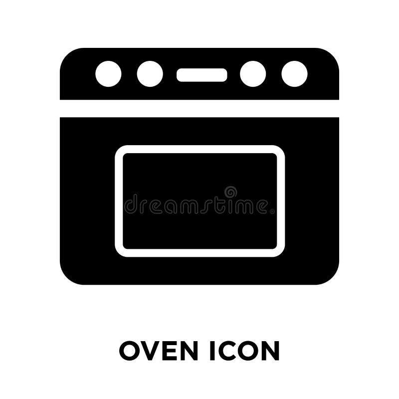 Vetor do ícone do forno isolado no fundo branco, conceito do logotipo de O ilustração stock