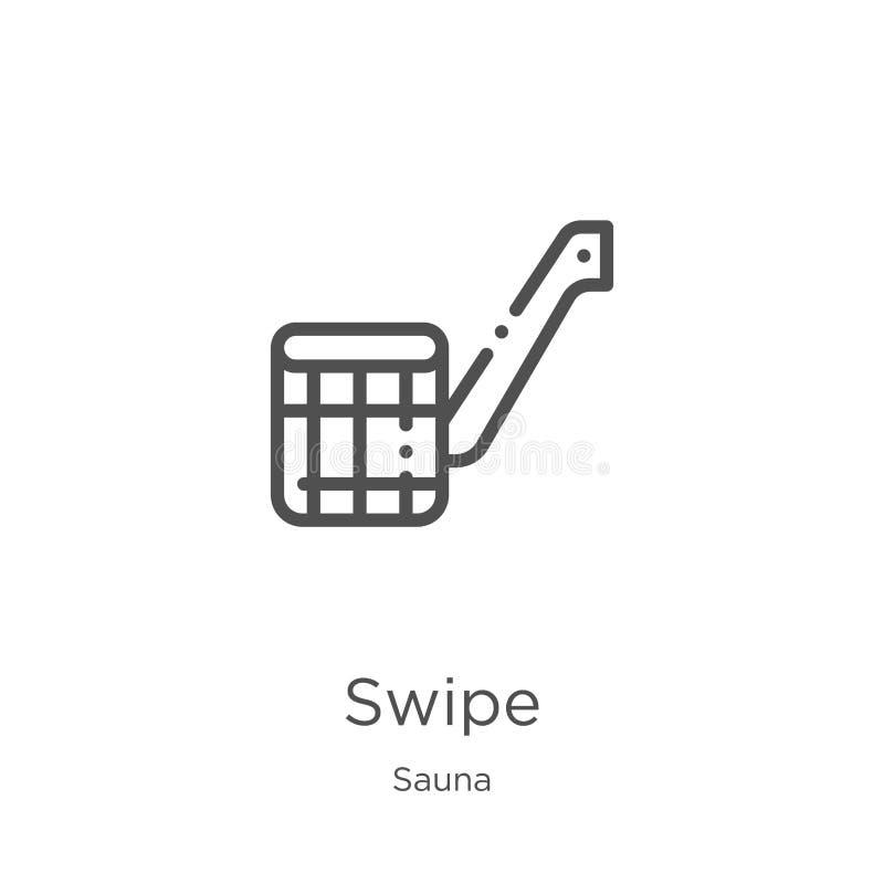 vetor do ícone do furto da coleção da sauna Linha fina ilustração do vetor do ícone do esboço do furto Esboço, linha fina ícone d ilustração stock