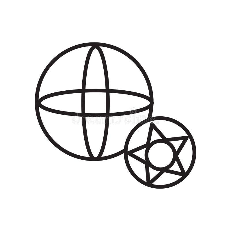 Vetor do ícone do futebol isolado no fundo, no sinal do futebol, no sinal e nos símbolos brancos no estilo linear fino do esboço ilustração stock