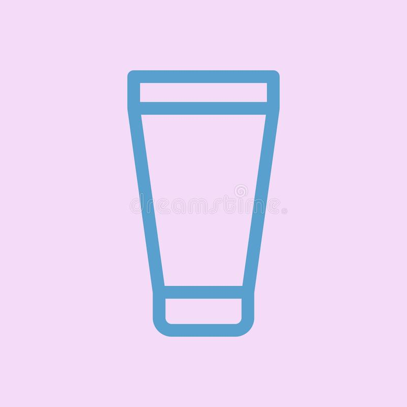 Vetor do ícone do gel O tubo, recipiente, ícone do creme isolou-se ilustração do vetor