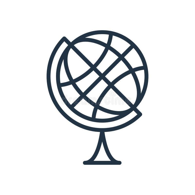 Vetor do ícone do globo da terra isolado no fundo branco, sinal do globo da terra ilustração stock