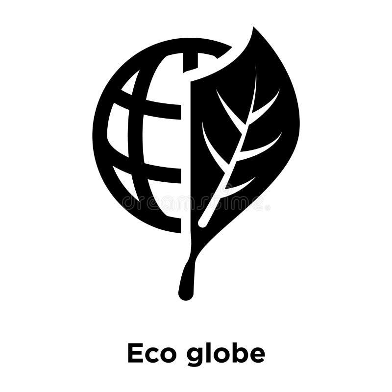 Vetor do ícone do globo de Eco isolado no fundo branco, conceito do logotipo ilustração royalty free