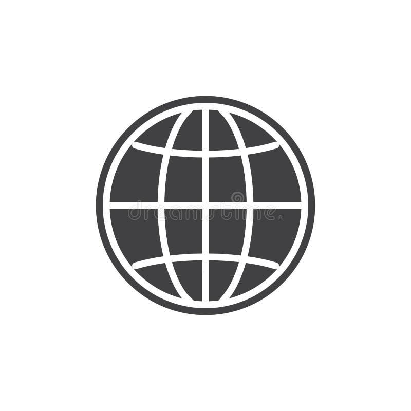 Vetor do ícone do globo do navegador ilustração stock