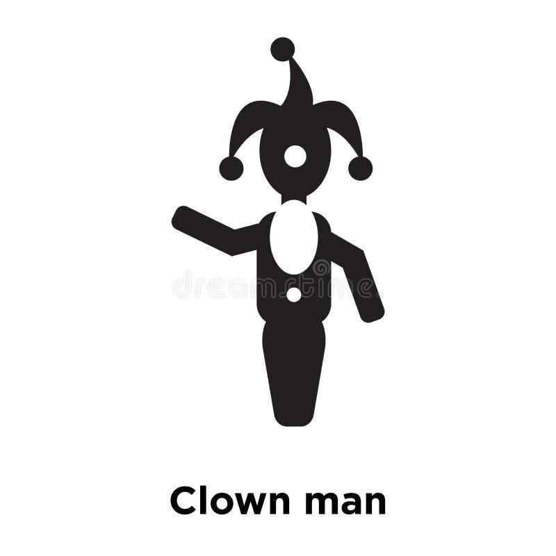 Vetor do ícone do homem do palhaço isolado no fundo branco, conceito do logotipo ilustração royalty free