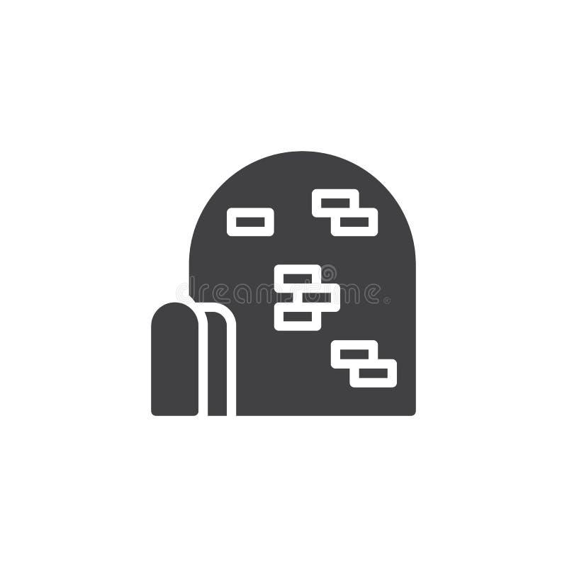 Vetor do ícone do iglu ilustração stock