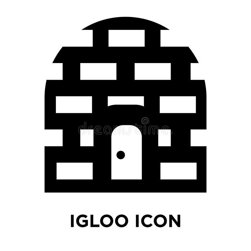 Vetor do ícone do iglu isolado no fundo branco, conceito do logotipo de ilustração royalty free
